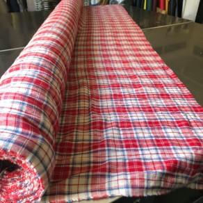 tissu lin lavé écossais carreaux grande largeur Lin et L'autre Normandie