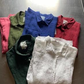 chemises en lin femme plusieurs couleurs