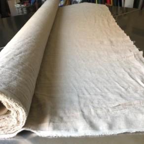tissu lin lavé naturel grande largeur Lin et L'autre normandie