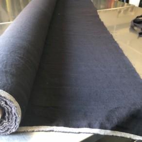 tissu lin lave noir au mètre