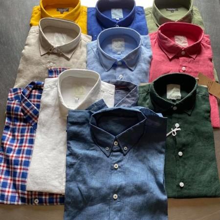 chemises en lin homme plusieurs coloris