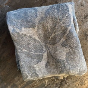 coupon tissu lin imprimé fleurs