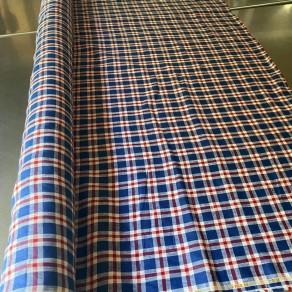 tissu lin fin lavé écossais petite largeur carreaux