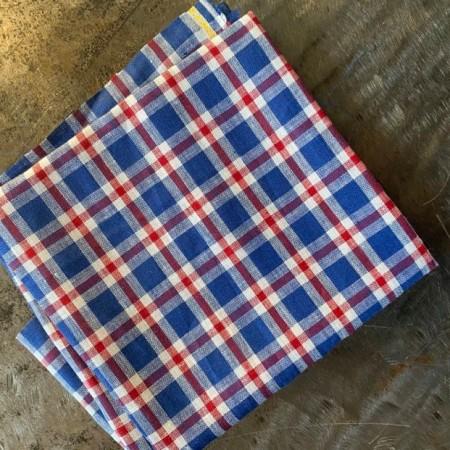tissu lin fin lavé écossais