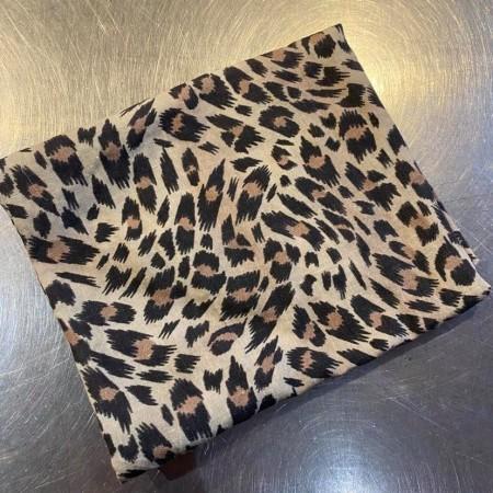 coupon tissu fin lin lavé imprimé sauvage