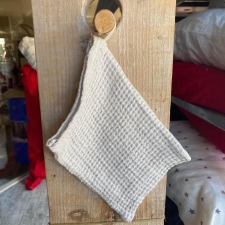 tissu lin éponge naturel