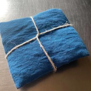 tissu lin lave bleu